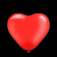 """12"""" (30см) Сердце красное (100шт) kalisan"""