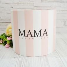 Шляпная коробка МАМА Люблю тебе УКР 20смх18см