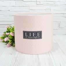 Шляпная коробка LIFE IS BEAUTIFUL 20смх18см