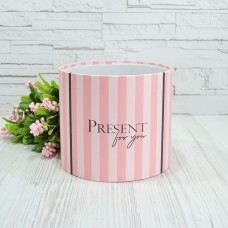 Шляпная коробка 16смх14см PRESENT FOR YOU