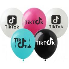 """12"""" (30см) шары с риcунком Tik Tok (25шт)"""