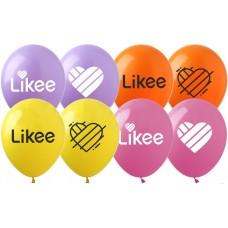 "12"" (30см) шары с рисунком Like (25шт)"