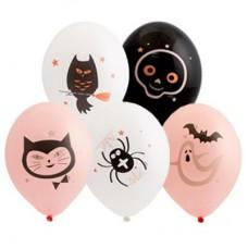 """14"""" (36см) шары с рисунком гламурный хеллоуин (50шт)"""