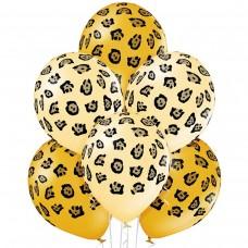 """14"""" (36см) шары с рисунком Леопард пятна (25шт)"""