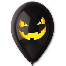 "Gemar 12 ""(30см) з малюнком гарбуз чорна (50шт) хеллоуин"