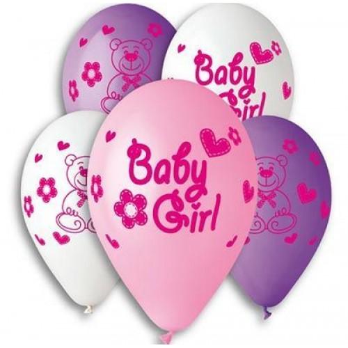 """G 12"""" с рисунком baby girl (100шт)"""