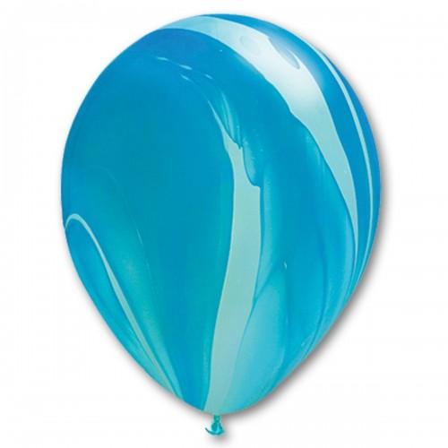 "11"" (28см) супер агат голубой (25шт) США"