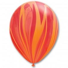 "11"" (28см) супер агат красно - оранжевый (25шт) США"