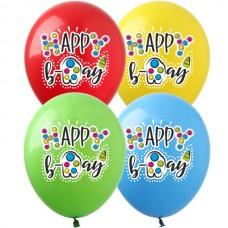 """12"""" (30см) Happy Birthday Симпл Дімпл (25шт)"""
