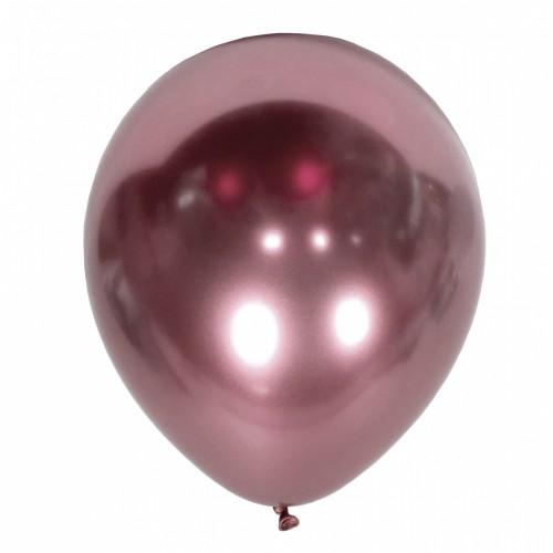 """12"""" (30см) шар ХРОМ розовый, Kalisan (50шт)"""