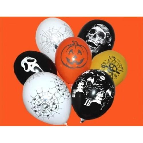 "Gemar 12""(30см) шары Хеллоуин ассорти (25шт)"