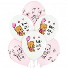 """12"""" (30см) Baby Girl Девочка (50шт) BelBal"""