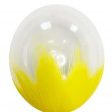 """12"""" (30см) Браш прозрачный желтым (1шар)"""
