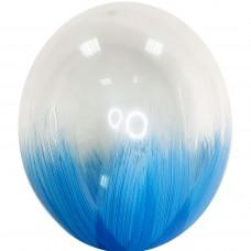 "12"" (30см) Браш прозрачный синим (1шар)"