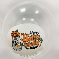 "12"" (30см) Хэллоуин (прозрачный, печать на BelBal) 1 шар"