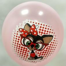 """12"""" (30см) Чихуахуа (розовый, печать на BelBal) 1 шар"""