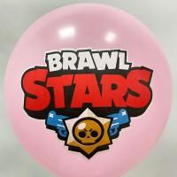 """12"""" (30см)  Brawl Stars (рожевий, друк на BelBal) 1 куля"""