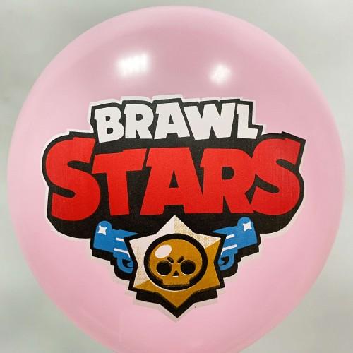 """12"""" (30см) Brawl Stars (розовый, печать на BelBal) 1 шар"""