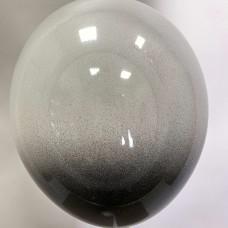 """12"""" (30см) омбре черно-белые (1 шар)"""