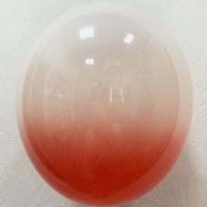 """12"""" (30см) омбре красно-белый (1 шар)"""