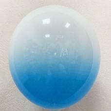 """12"""" (30см) омбре синьо-білі (1 куля)"""