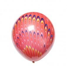 """18"""" (45см) Шар с рисунком  Павлин розовый (1 шар)"""
