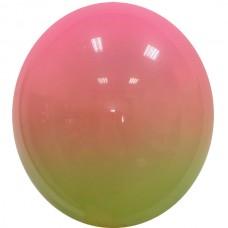 """12"""" (30см) омбре салатово-розовое (1 шар)"""
