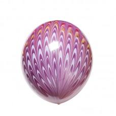 """18"""" (45см) Шар с рисунком  Павлин фиолетовый (1 шар)"""