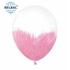 """ММ 12"""" (30см) Браш розовый блеск на прозрачном (1шт) BelBal"""