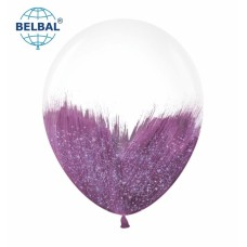 """ММ 12"""" (30см) Браш фиолетовый блеск на прозрачном (1шт) BelBal"""