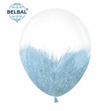"""ММ 12"""" (30см) Браш голубой блеск на прозрачном (1шт) BelBal"""