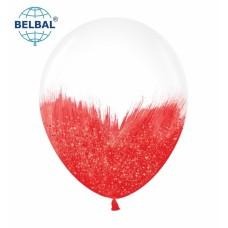 """ММ 12"""" (30см) Браш красный блеск на прозрачном (1шт) BelBal"""