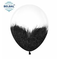 """ММ 12"""" (30см) Браш черный блеск на прозрачном (1шт) BelBal"""