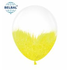 "ММ 12"" (30см) Браш желтый блеск на прозрачном (1шт) BelBal"